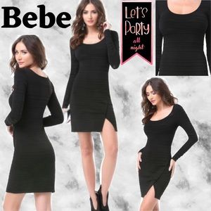 ⭐️NWOT⭐️ Bebe Mesh Stripe SEXY Sweater Dress